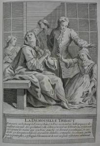 Est gueri sur le champ le jour 19 Juin 1731. Tous ses membres hidropiques desenflent à la vüe des spectateurs...