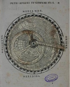 Une cosmographie animée dans Auteurs, écrivains, polygraphes, nègres, etc. Volvelle-11-241x300