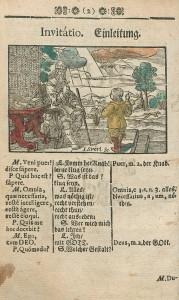 Introduction d'une éd. bilingue latin-allemand parue à Nuremberg en 1682 ?, coloriée a posteriori. Cote : 1R 36521