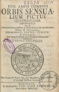 Page de titre de l'éd. quadrilingue allemand-latin-italien-français de 1760, chez Johannes Andreas Endter à Nuremberg. Cote : R2 22576