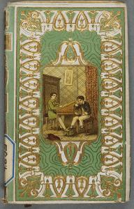 Motif palmette, papier gaufré : Girard, Just. François ou les dangers de l'indécision. Tours : Mame, 1866. 2RB 4239