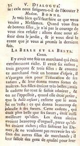 Mme Leprince de Beaumont. <em>Le Magasin des enfans, ou dialogues, entre une sage gouvernante et plusieurs de ses élèves de la première distinction…</em> La Haye : P. Gosse Junior, 1769. Cote 2RA 3737.
