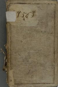 Les Colloques d'Erasme (Familiarium colloquiorum opus. Des. Erasmo Roterodamo autore), publiés à Lyon en 1536. Reliure en vélin, dos long avec le titre manuscrit, in-8°. 1R 35552