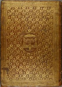 Dorure à répétition d'un motif personnalisé : armes du Cardinal Mazarin Publii Terentii comoediae. 1642. Cote : 2RE 4690