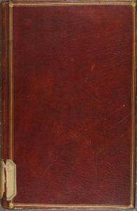 Reliure pleine en maroquin rougePlaidoye de feu maistre Pierre Versoris. 1544. Cote : 1R 38663