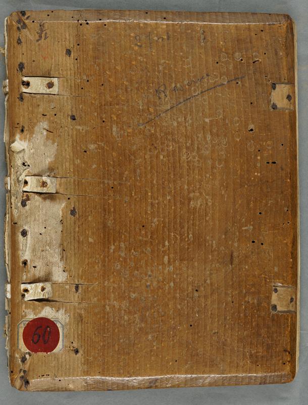 Ais de bois du manuscrit de la 1R