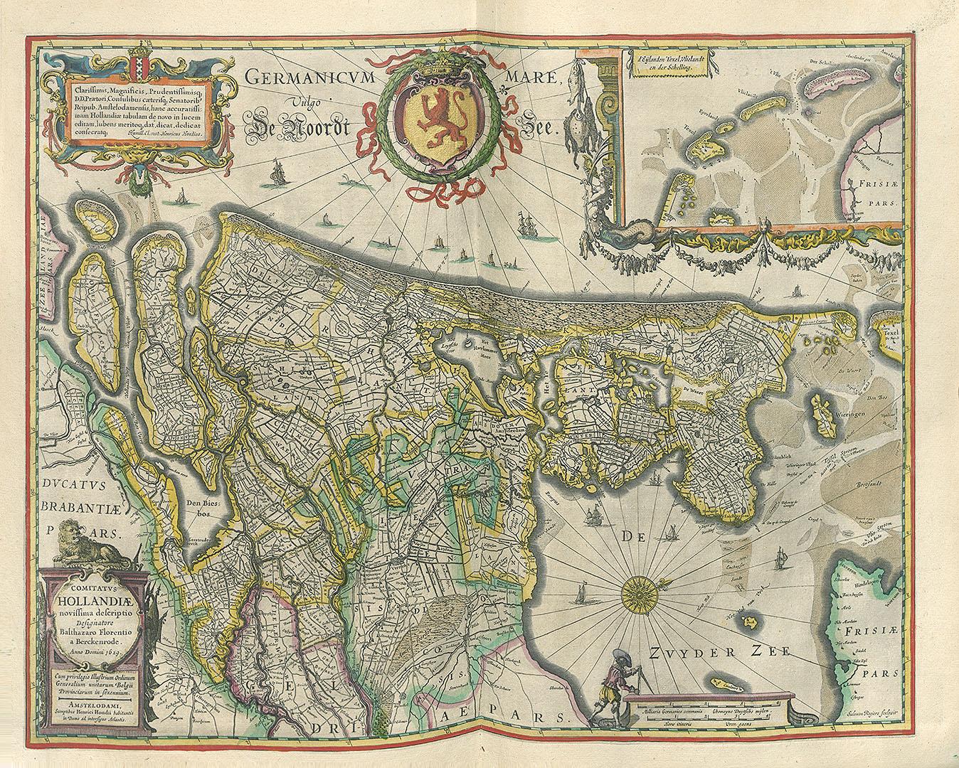 Comitatus Hollandiae. Amsterdam : H. Hondius, 1629