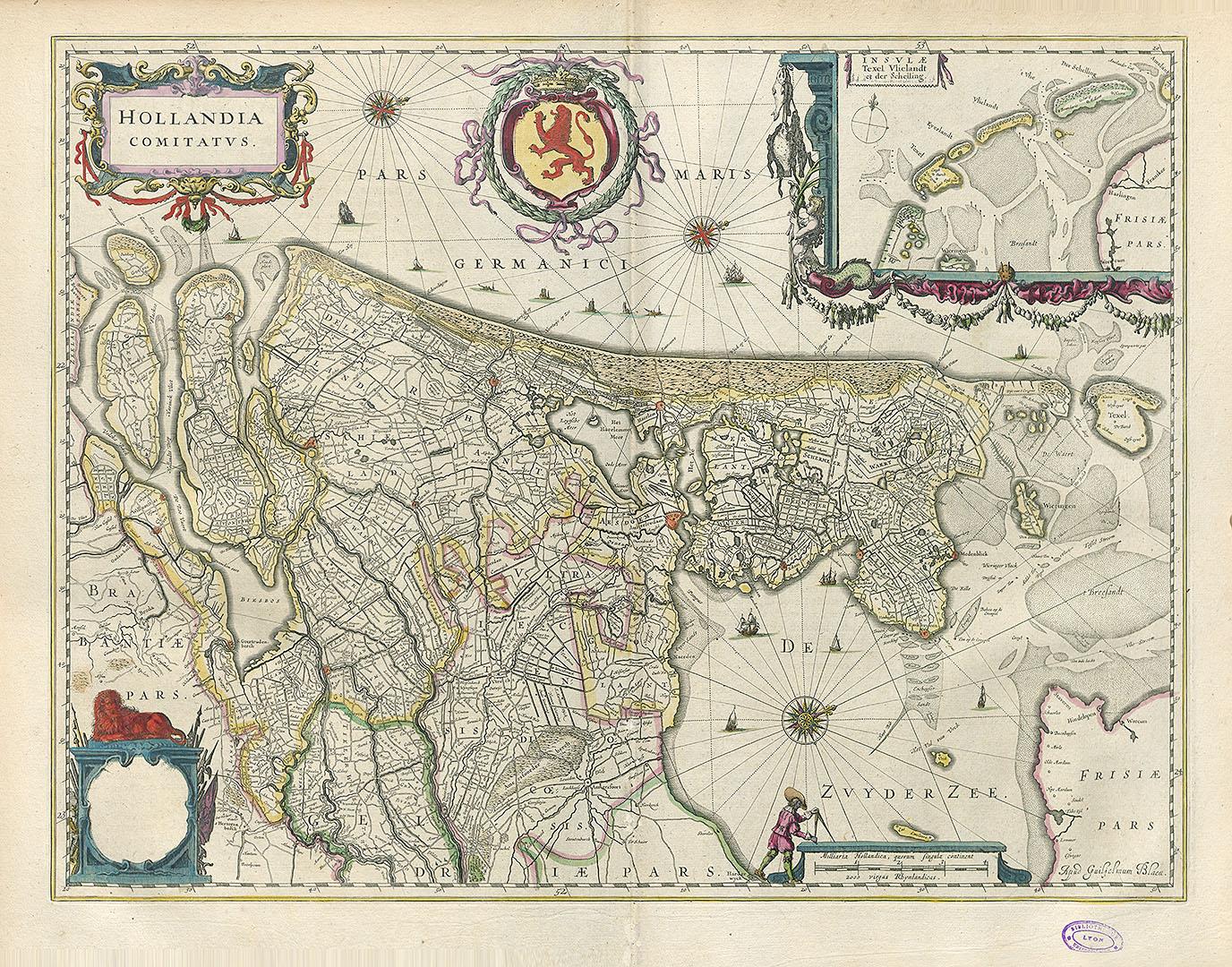 Hollandia Comitatus. Amsterdam : Blaeu, s. d.