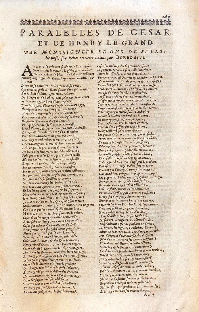 Édition de Rouen (1649), caractères italiques