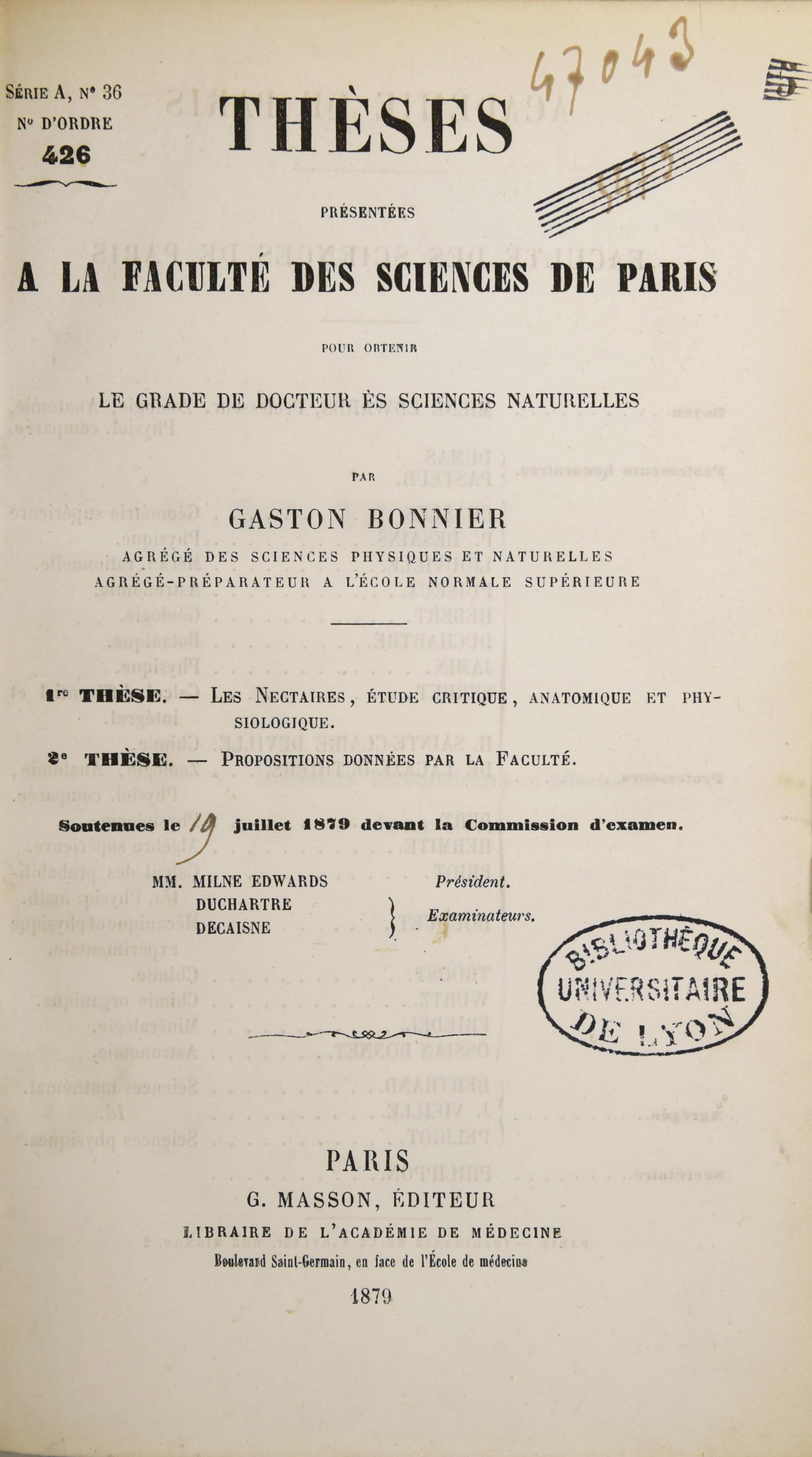 Bonnier - Les nectaires 1