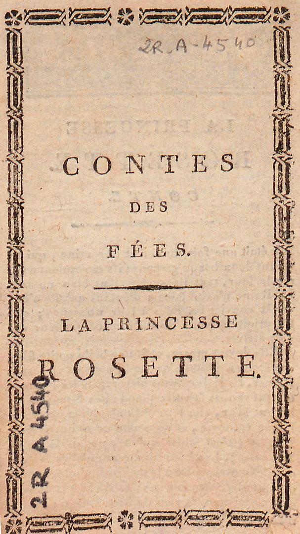 La Princesse Rosette