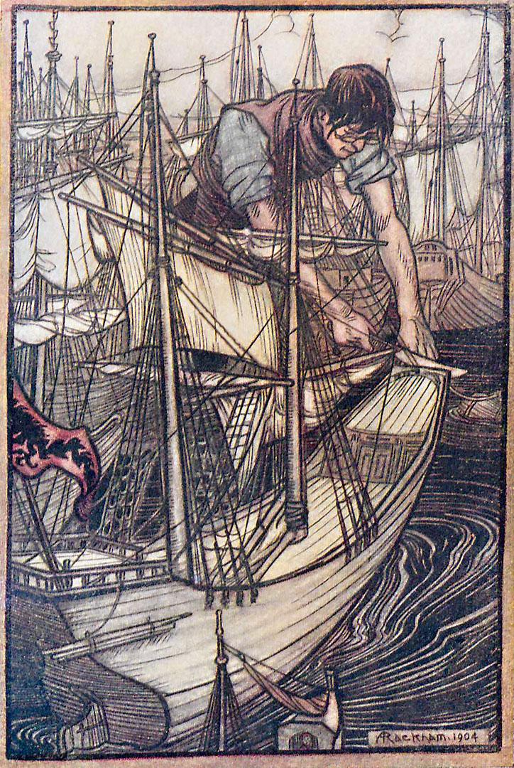 Gulliver s'empare desvaisseauxennemis [coteBibliothèqueDiderot deLyon: 2RB4167]