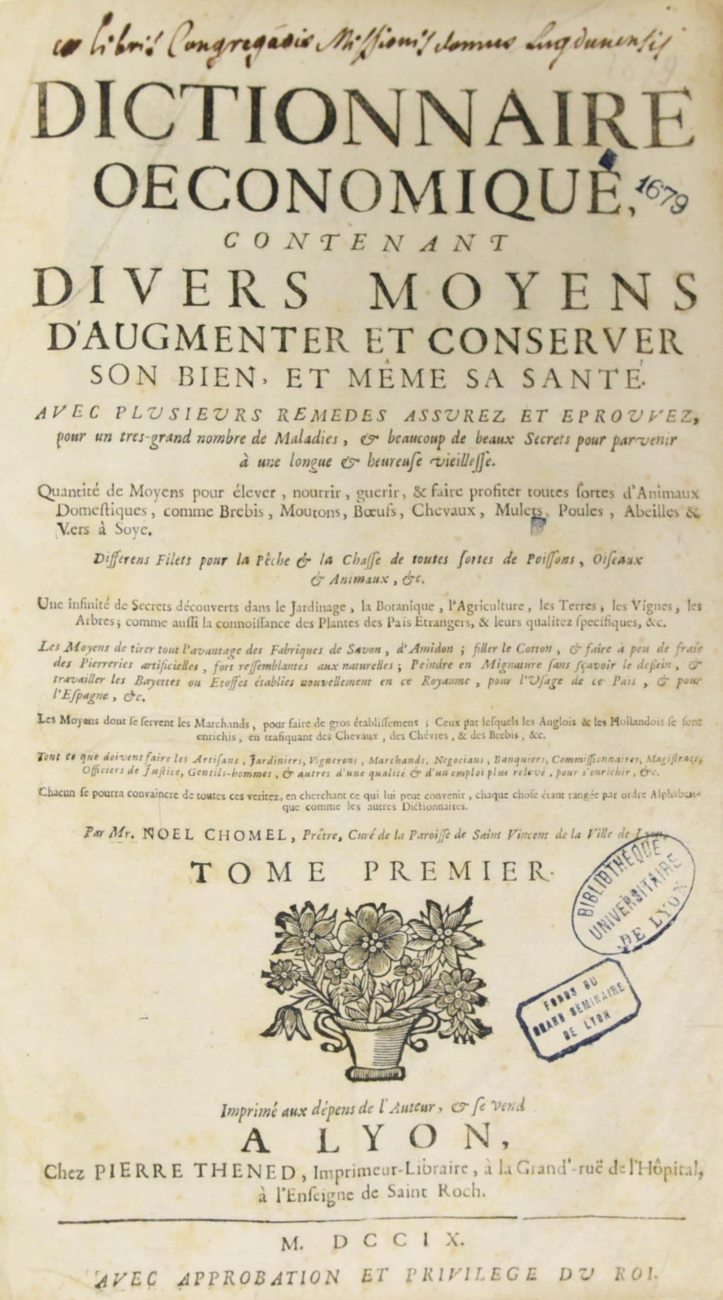 Dictionnaire Oeconomique - 1-1