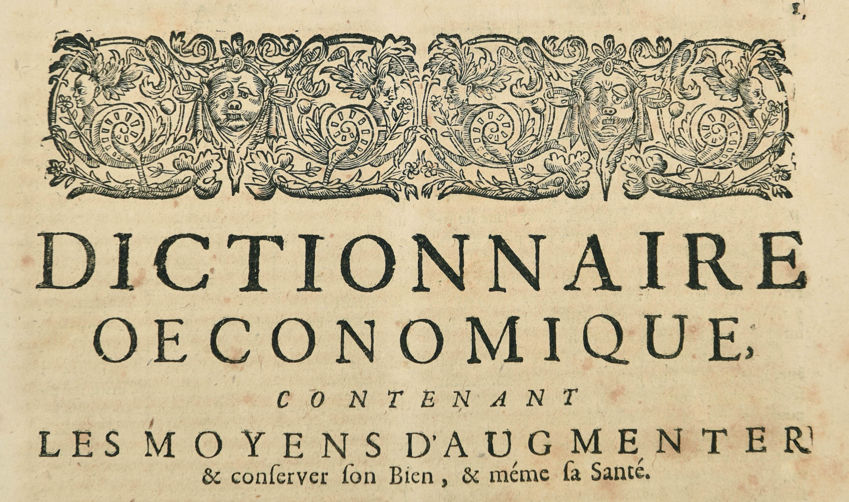 Dictionnaire Oeconomique - 8-3