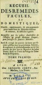 La médecine des pauvres de Madame Fouquet
