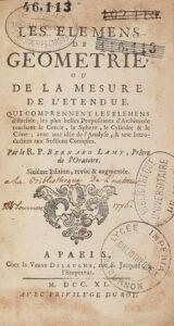 Bernard Lamy Elèmens de géométrie 1740