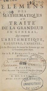 Bernard Lamy Elemens mathématiques 1689
